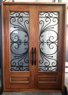 Imperia. Wood and Wrought Iron Door