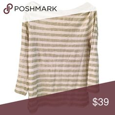 """🔮5/$50🔮J.Crew Factory Shimmer striped top 🎁Offers encouraged & flexible                                                                                🔑Bundle to save 10%                                                                                                   👍Like for price drop notifications                                     EUC, no stains spots or loose threads. Top to hem~ 22"""", neckline to front hem~ 21"""", sleeve length~ 18.5"""", breast width~ 15.5"""". J. Crew Factory Tops…"""