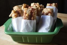 Baked Apple Streusel Pancake Bars. Make ahead breakfast bars, package them, and surprise them with a camp morning breakfast treat.
