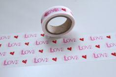 Masking Tape ROSA ROT Love & Herzen von washitapes auf DaWanda.com