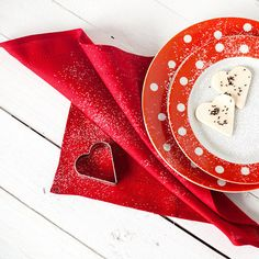 Valentine day napkins Red linen cloth napkins Red