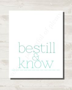 Be Still and Know Faith Print Simple and by xoLoreyDesigns on Etsy