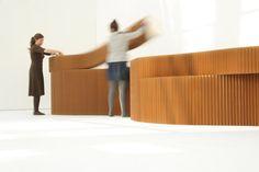softblock | natural brown paper von molo | Raumteilsysteme