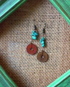 Check out this item in my Etsy shop https://www.etsy.com/listing/213813808/turqoise-centavo-coin-earring