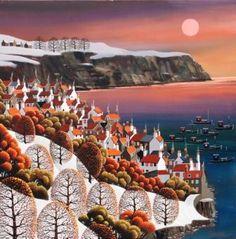 George Callaghan-Robin Hoods Bay, Snowy Morning