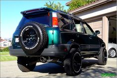 Green crv - off road style