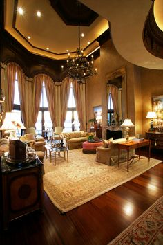 John B. Scholz Architect, Inc. |         LIVING ROOM    BELLA DONNA