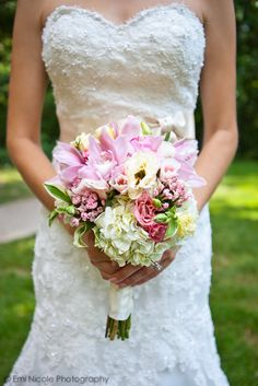 soft pink bouquet w/ locally grown flowers