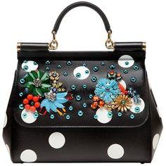 Dolce & Gabbana Women Medium Sicily Embellished Leather Bag
