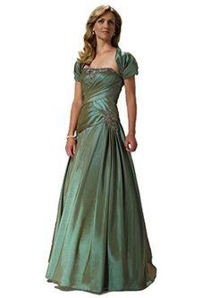 Alyce Paris JDL 29328 Strapless Pleated Ball Gown with Bolero Jacket Dress - Strapless Neckline; Pleated, Beaded Bodice; Short Sleeve Bolero Jacket