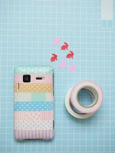やわらかい時間: マスキングテープ. Washi tape your cell phone.
