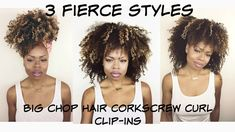 ... Install Tutorial for Natural Hair Clip In Extensions - CURLSISTAS HAIR
