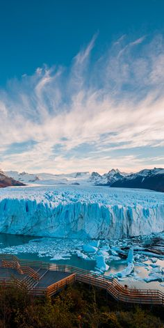 The most famous glacier in Los Glaciares National Park is the Perito Moreno Glacier #Argentina