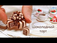 Chocolate cake from polymer clay! - YouTube