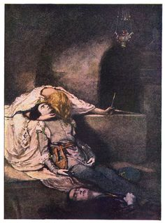 Death scene, Juliet crying on Romeo's dead body.. and for once, Paris' death (as in the original play) seems to be acknowledged here.