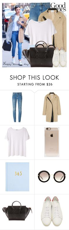 """2234. Celebrity Style: Miranda Kerr"" by chocolatepumma ❤ liked on Polyvore featuring Oris, Kerr®, Yves Saint Laurent, Atto, T By Alexander Wang, Incase, Miu Miu and CÉLINE"