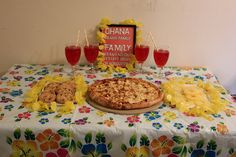 Lilo and Stitch  Hawaiian BBQ Chicken Pizza  Pineapple Rings Milk Chocolate Macadamia Nut cookies Hawaiian Punch