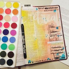 #retreat into The living Word daily. Here is the finished product. Give me all the tips ladies who use these watercolors!! I'm thinking I will stick to acrylic, but will keep practicing. #illustratedfaith #documentedfaith #biblejournaling #journalingbible #shepaintstruth #lifechangingtruth #relyongod #spiritualtruth #therealpromise #ntdadvent #makeroom