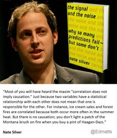 Famous predictor Nate Silver explains why correlation doesn't necessarily imply causation.