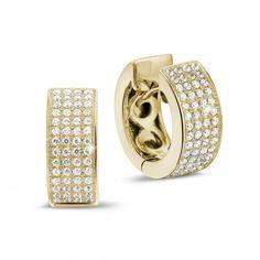 0 75 Carat Diamond Creole Earrings In Yellow Gold