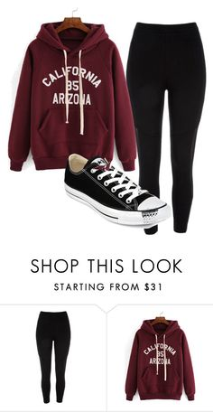 """""""california hoodie converse leggings"""" by melissa-boucher-i on Polyvore featuring River Island and Converse"""