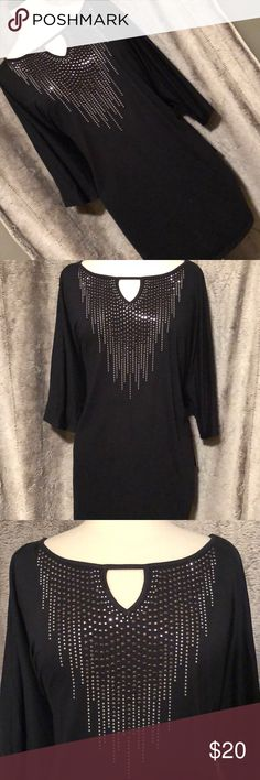 Gorgeous Embellished Top NWT - this top with Embellished bodice and keyhole neckline is gorgeous and perfect for a girls night out whether worn with jeans, leggings or a black leather skirt for an edgy look. New with tags. Gloria Vanderbilt Tops