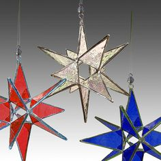 10 Stained Glass Moravian Stars Ornaments- Home Decor, Suncatchers, Wholesale Price - Choose Your Colors Stained Glass Ornaments, Stained Glass Christmas, Stained Glass Projects, Stained Glass Patterns, Sun Catchers, Christmas Colors, Christmas Ornaments, Star Tree Topper, Star Ornament