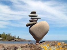 Michael Grab's Rock and Stone Balance Art Images Land Art, Photo Truquée, Michael Grab, Stone Balancing, Stone Cairns, Balanced Rock, Art Pierre, Balance Art, Balance Quotes