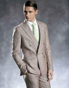80's linen mens suit