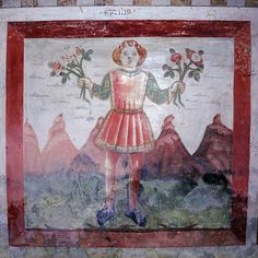 The Labours of the Months, frescoes' cycle in the choir of San Michele in Palagnedra, Centovalli, CH