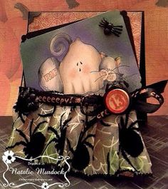 """ONECRAZYSTAMPER.COM: Friday 13th Halloween Fun - by Natalie using High Hopes Stamps """"Boo Pals"""" (SS007)"""