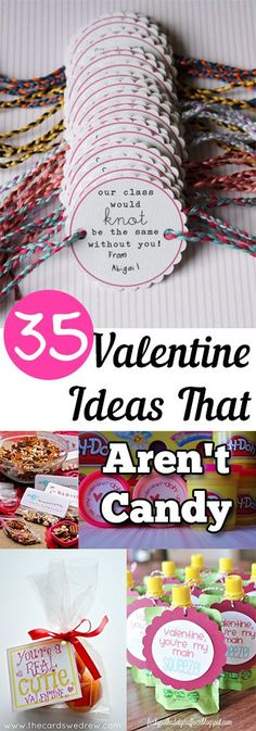 35 Valentine Ideas that Aren't Candy // 35 ideas de San Valentín que no son caramelos #valentines #gifts #kids
