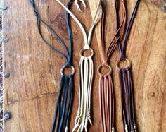 Brown suede fringe necklace by beigeandbarn on Etsy