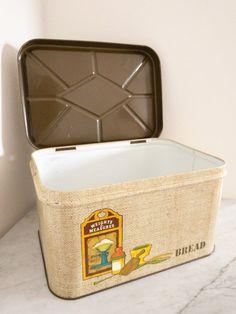 Bread Bin, Shop Signs, Vintage Metal, 1960s, Tin, Conditioner, Base, Trends, Instagram