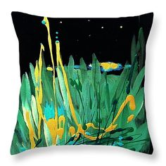 """Cosmic Island 14"""" x 14"""" Throw Pillow by Holly Carmichael.  Multiple sizes available."""