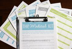 Tired of trying to keep track of everyone's medical records?  Check out The MEDICAL Kit  via CleanMamaPrintables