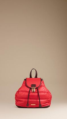 QUILTED PUFFER BACKPACK | Burberry