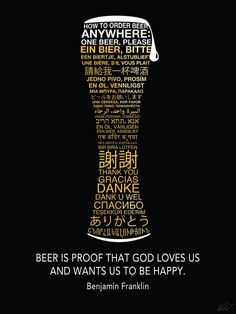 International Beer Typography Poster by RocketBikeDesign on Etsy, $40.00
