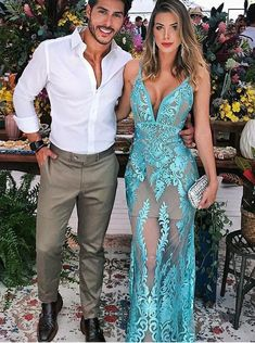Cute Prom Dresses, Sheath V-Neck Low-cut Turquoise Tulle Prom Dress with Appliques, Shop plus size prom dresses and full figured formal gowns with an affordable price. V Neck Prom Dresses, Tulle Prom Dress, Evening Dresses, Lace Dress, Bridesmaid Dresses, Wedding Dresses, Wedding Shoes, Party Dresses, Lace Dresses