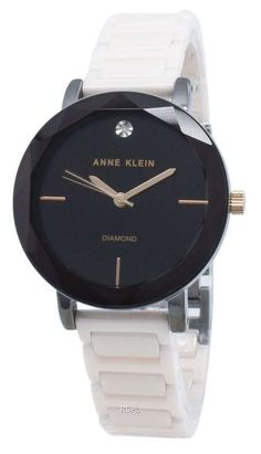 Features: Stainless Steel Case Ceramic Bracelet Quartz Movement Mineral Crystal Black Dial Analog Display Diamond Accents Pull/Push Crown Solid Case Back Jewelry Clasp Splash Resistance Approximate Case Diameter: 32mm Approximate Case Thickness: 9mm Back Jewelry, Jewelry Clasps, Anne Klein Watch, Stainless Steel Case, Mineral, Quartz, Crown, Display, Ceramics