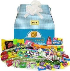 1990's Easter Retro Candy Gift Basket ~~ #easter #retrocandy #giftbasket ~~