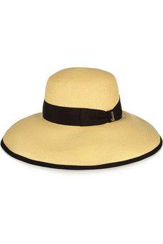 Gucci Wide-brim woven paper yarn hat | NET-A-PORTER - http://www.net-a-porter.com/product/504052/Gucci/wide-brim-woven-paper-yarn-hat