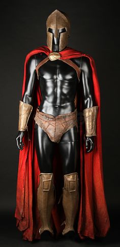"""Today's Featured Item is sure to make you walk around shouting """"THIS IS SPARTAAAA!"""" - Check out this Spartan Costume and more over at propstore.com! #300 #Sparta #SpartanCostume #FeaturedItem #PropStore"""