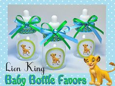 Lion King Baby Bottles Baby Shower Favors Candy by FavorsBoutique