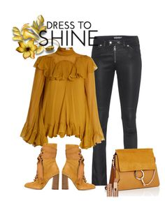 """Autumn Shine"" by juliehooper ❤ liked on Polyvore featuring Calvin Klein Jeans, Chloé and tarte"