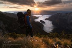 Magic Morning by AdnanBubalo with sunrisepeakhikehikerMountain