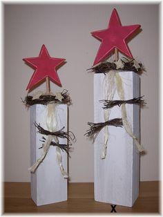 Jahreszeitentisch - Stele aus Holz mit Stern ca. 50 cm - ein Designerstück von lampenfieber17 bei DaWanda