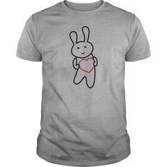 Bunny with Heart Kids Shirts  Kids Premium TShirt