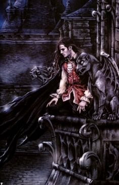 Gothic Art by Victoria Frances. Male Vampire, Vampire Love, Gothic Vampire, Vampire Art, Fantasy Male, Dark Fantasy, Fantasy Kunst, Dragons, France Art