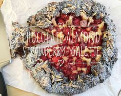 Chocolate Almond Strawberry Galette - from Lunchblocks Chocolate Pie Crust, Chocolate Pies, Like Chocolate, Strawberry Picking, Best Pie, Original Recipe, A Food, Food Processor Recipes, Berries